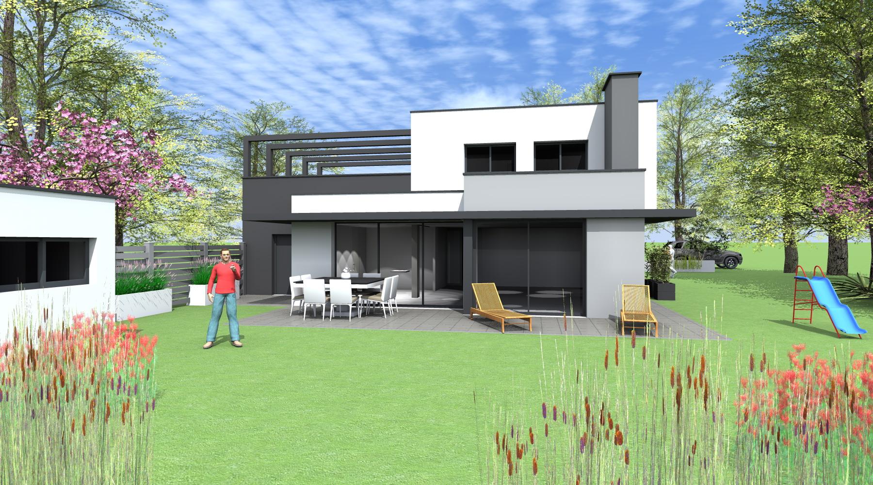 Beautiful architecte rennes maison individuelle - Architecte grenoble maison individuelle ...