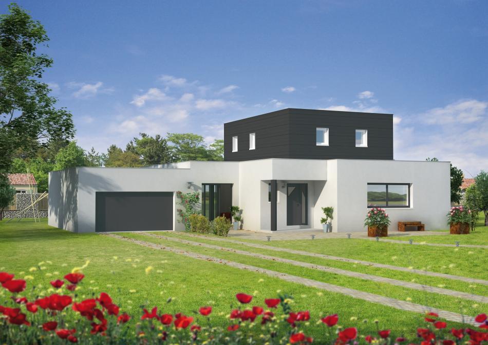 Modele facade maison moderne magnifique maison dernier for Achat maison neuve nord