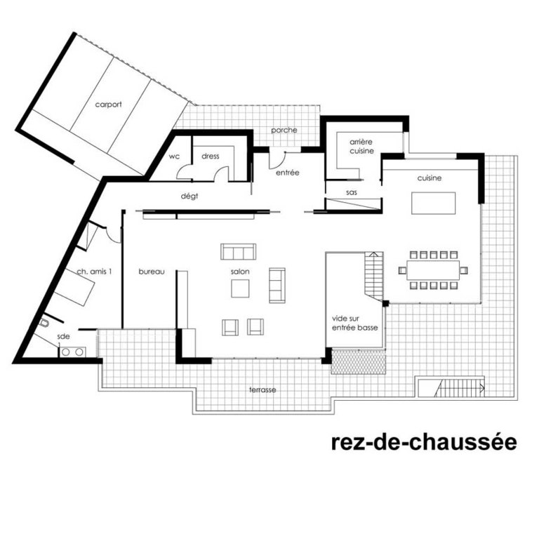 Plan maison architecte contemporaine mc immo for Plan architecte maison