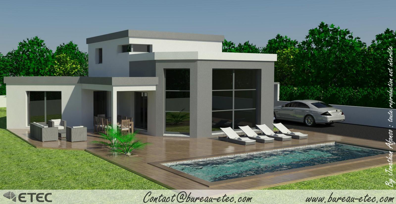 Modele maison toit terrasse mc immo for Immobilier toit terrasse