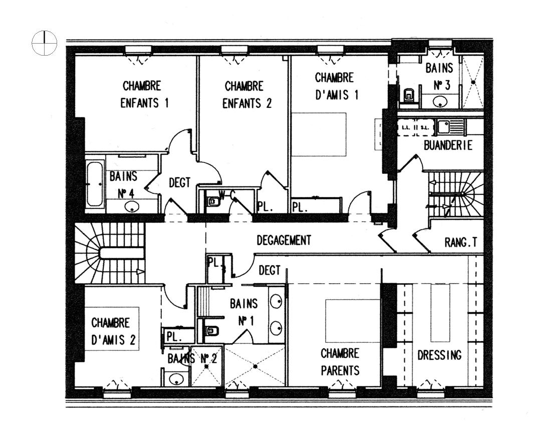 plan maison moderne d'architecte