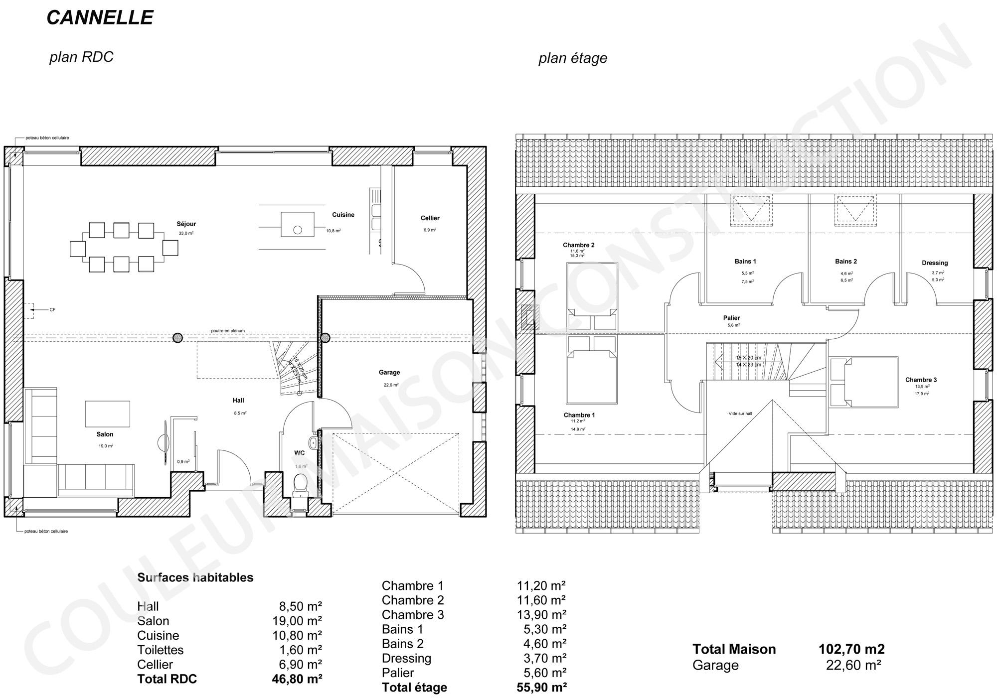 Plan de maison en l avec etage cool cubique with plan de for Plan de maison en l
