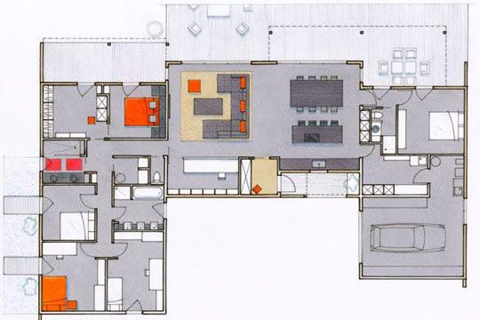 plan maison moderne 200m2