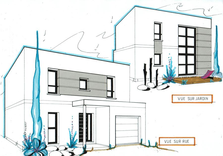 Plan De Maison Cubique - Mc Immo