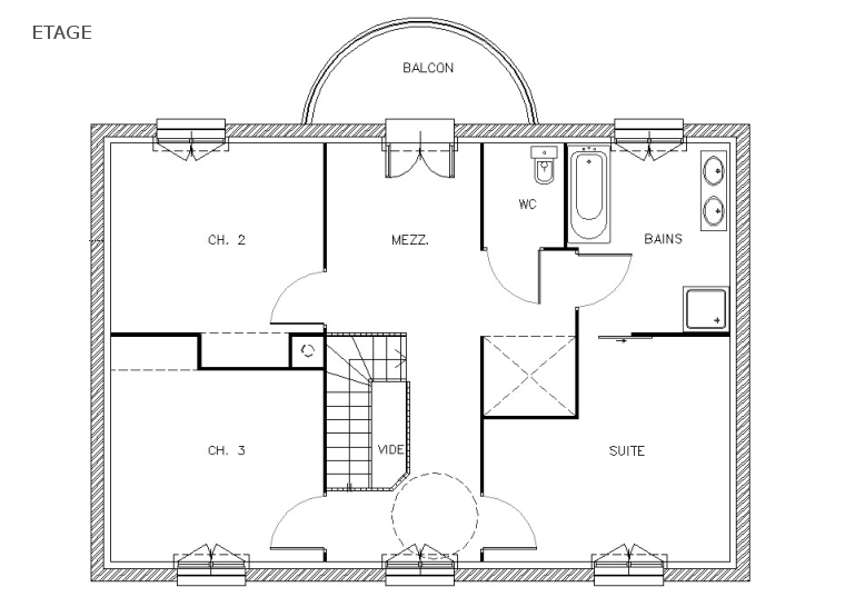 Modele de plan de maison moderne mc immo for Exemple plan maison