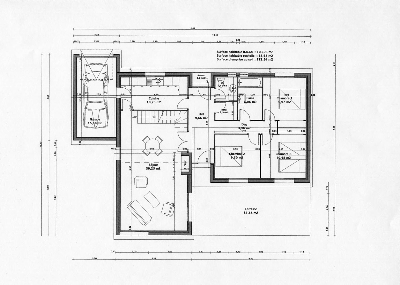 Plan maison africaine gratuit for Plan villa moderne 200m2