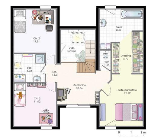 Plan Maison En L Avec Etage Trendy Gallery Of Plan Maison M Avec