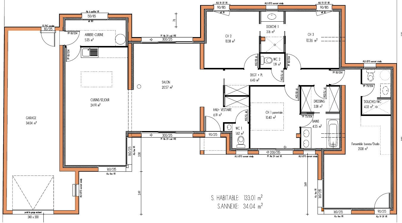 Id e plan maison moderne mc immo for Idee plan maison moderne