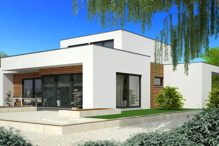 Tarif maison contemporaine toit plat mc immo for Tarif architecte construction maison