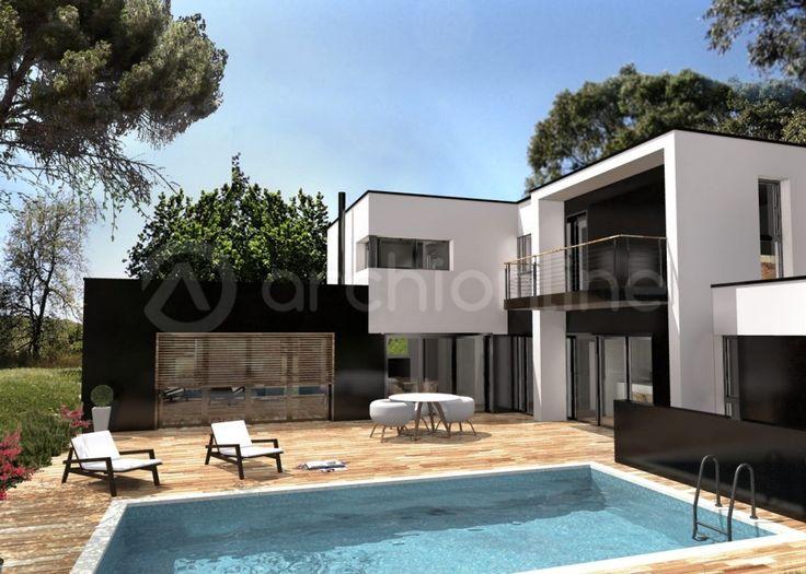 Maison contemporaine 120m2 mc immo for Maison moderne mc