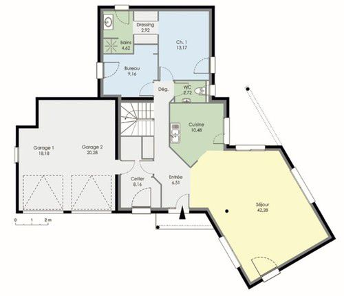 Plan De Maison Contemporaine  Mc Immo