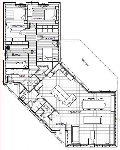 Plan Maison Architecte Design  Mc Immo