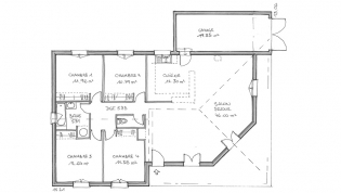 Plan de villa moderne mc immo for Plan maison futuriste