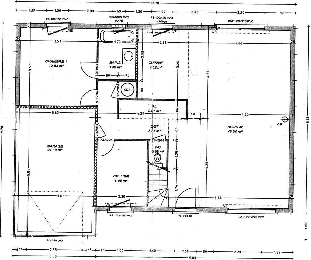 Plan de maison construction mc immo for Maison dans un plan de maison