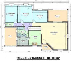 plan maison en l avec terrasse couverte
