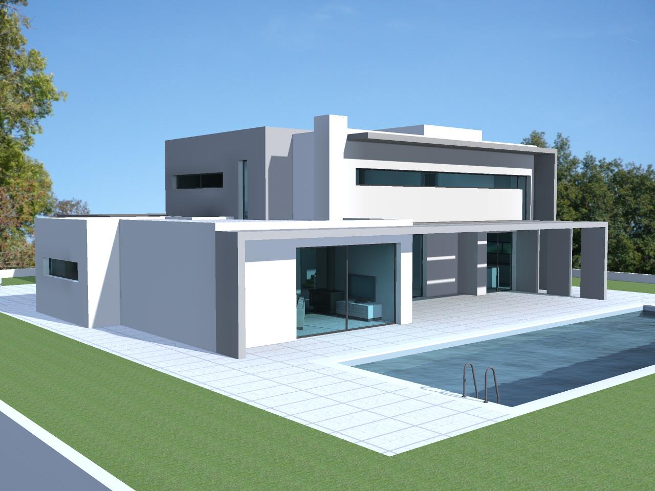 Populaire Prix d une maison contemporaine toit plat - Mc immo WO23
