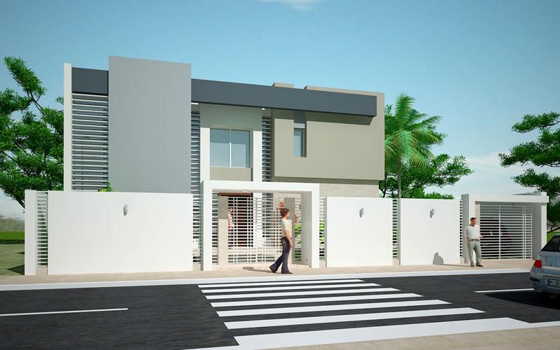 Façade villa moderne - Mc immo