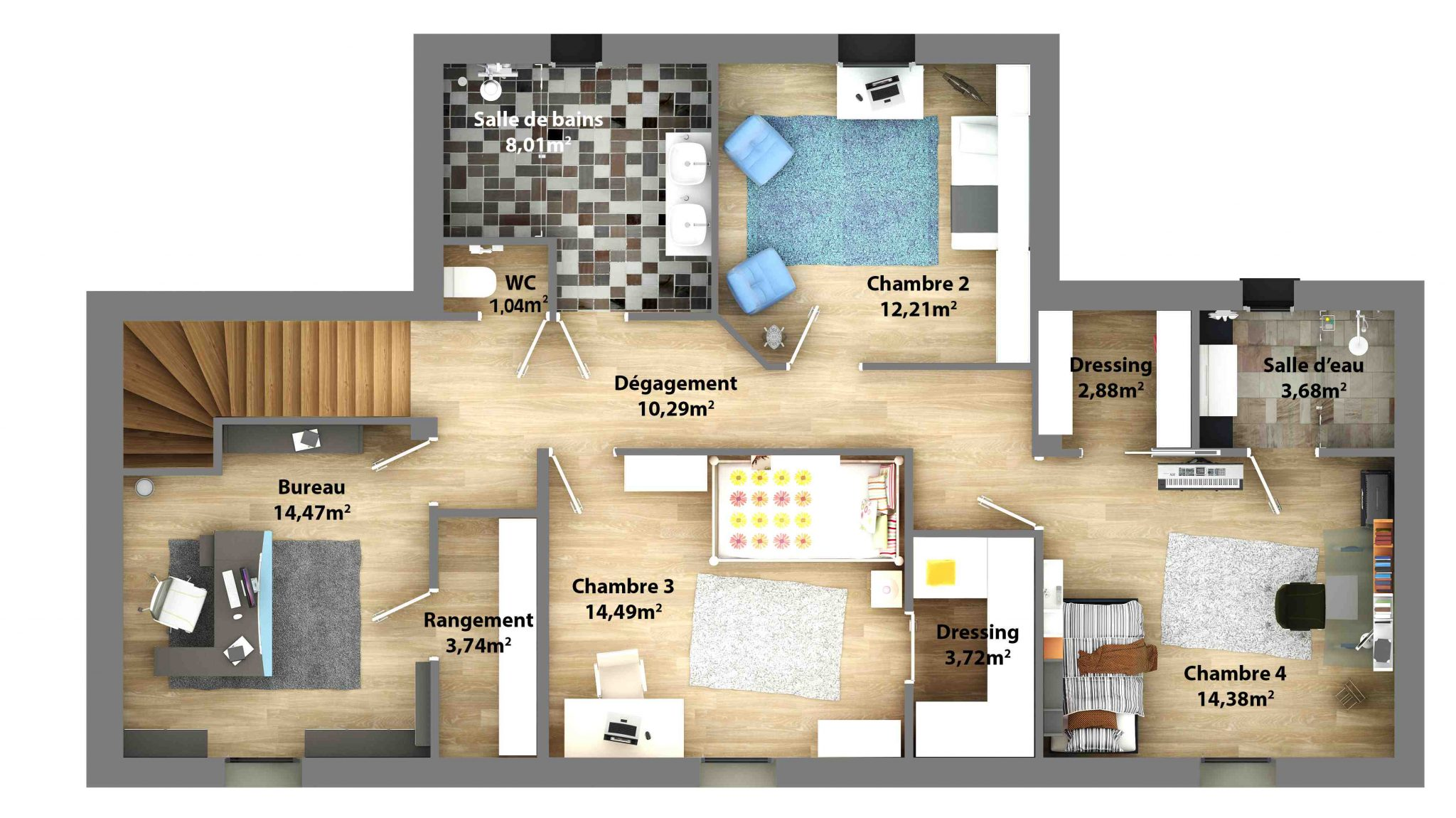 plan de construction maison moderne mc immo. Black Bedroom Furniture Sets. Home Design Ideas