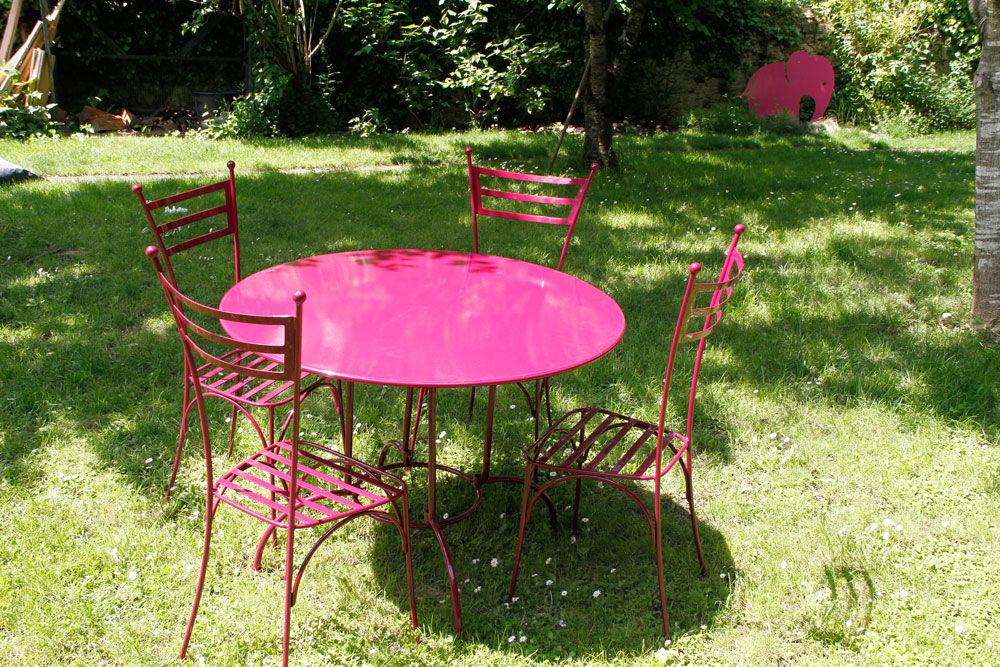 Salon jardin metal couleur - Mc immo