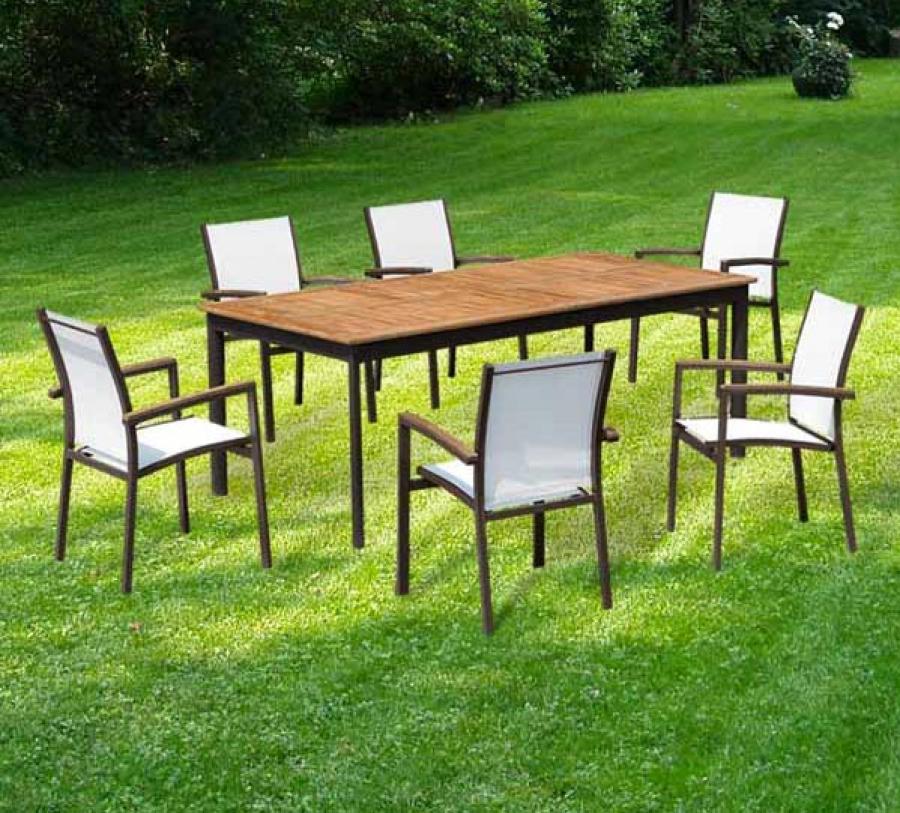 promo salon de jardin aluminium mc immo. Black Bedroom Furniture Sets. Home Design Ideas