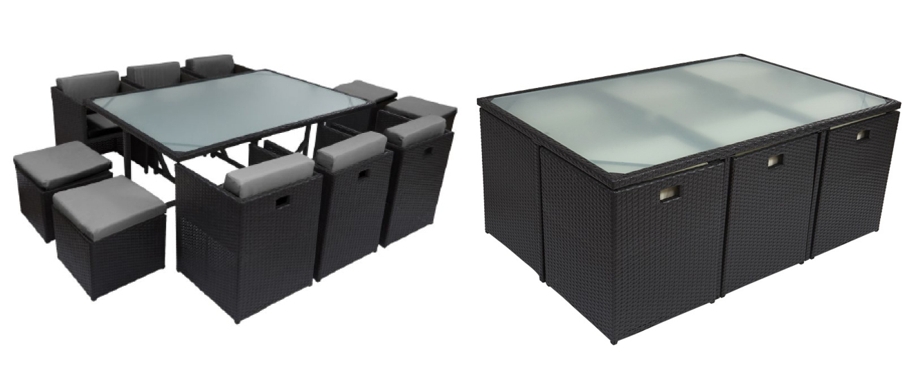 table et chaise de jardin en resine mc immo. Black Bedroom Furniture Sets. Home Design Ideas