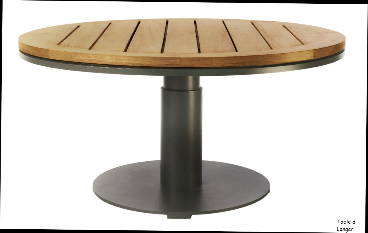 Stunning table de jardin ronde blanche pictures awesome for Petite table avec rallonge