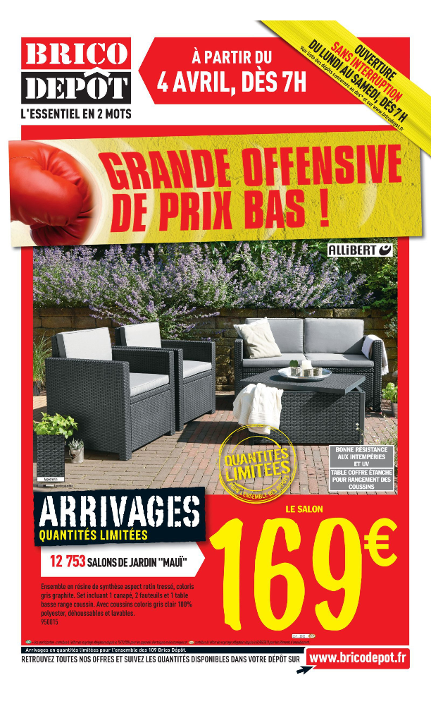 Brico deco jardin mc immo for Brico jardin challans catalogue