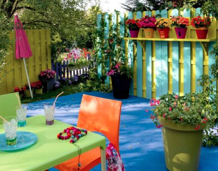 idee deco jardin colore