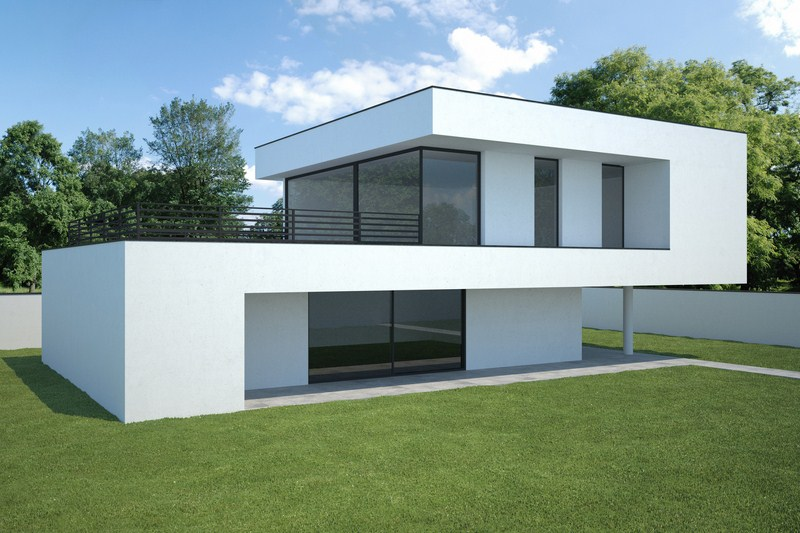 Cout de construction maison contemporaine mc immo for Cout construction villa