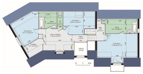 plan maison contemporaine avec etage mc immo. Black Bedroom Furniture Sets. Home Design Ideas