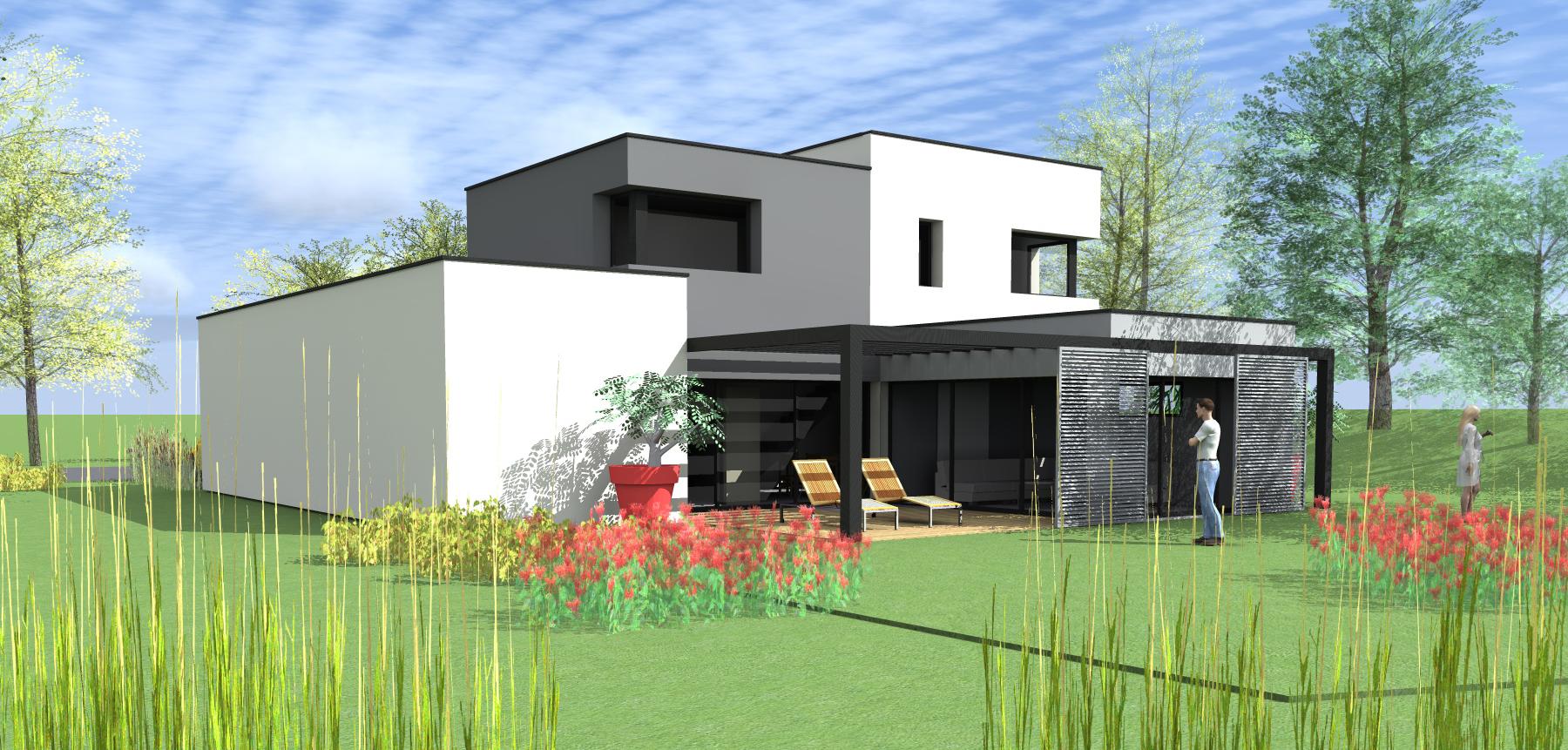 Projet maison moderne - Mc immo