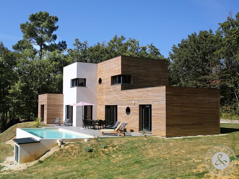Maison contemporaine a toit plat mc immo for Maison moderne mc