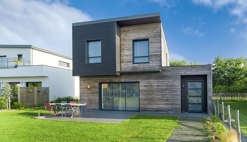 Maison moderne bois - Mc immo