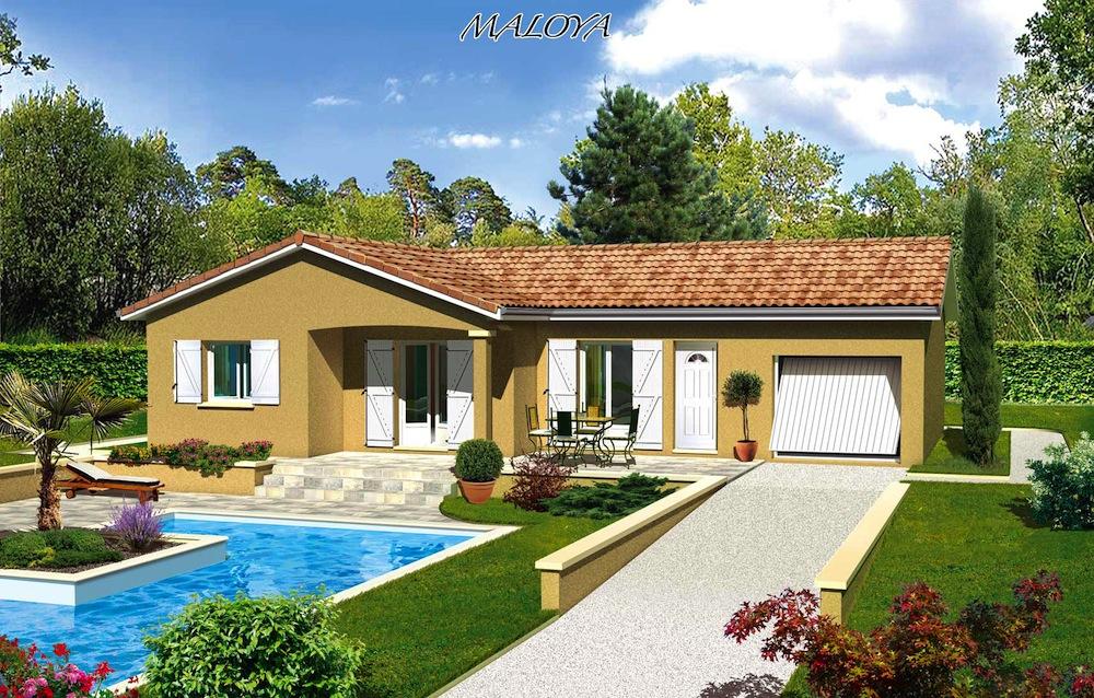 modele maison toit terrasse mc immo. Black Bedroom Furniture Sets. Home Design Ideas