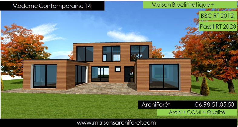 modele de maison contemporaine architecte mc immo. Black Bedroom Furniture Sets. Home Design Ideas