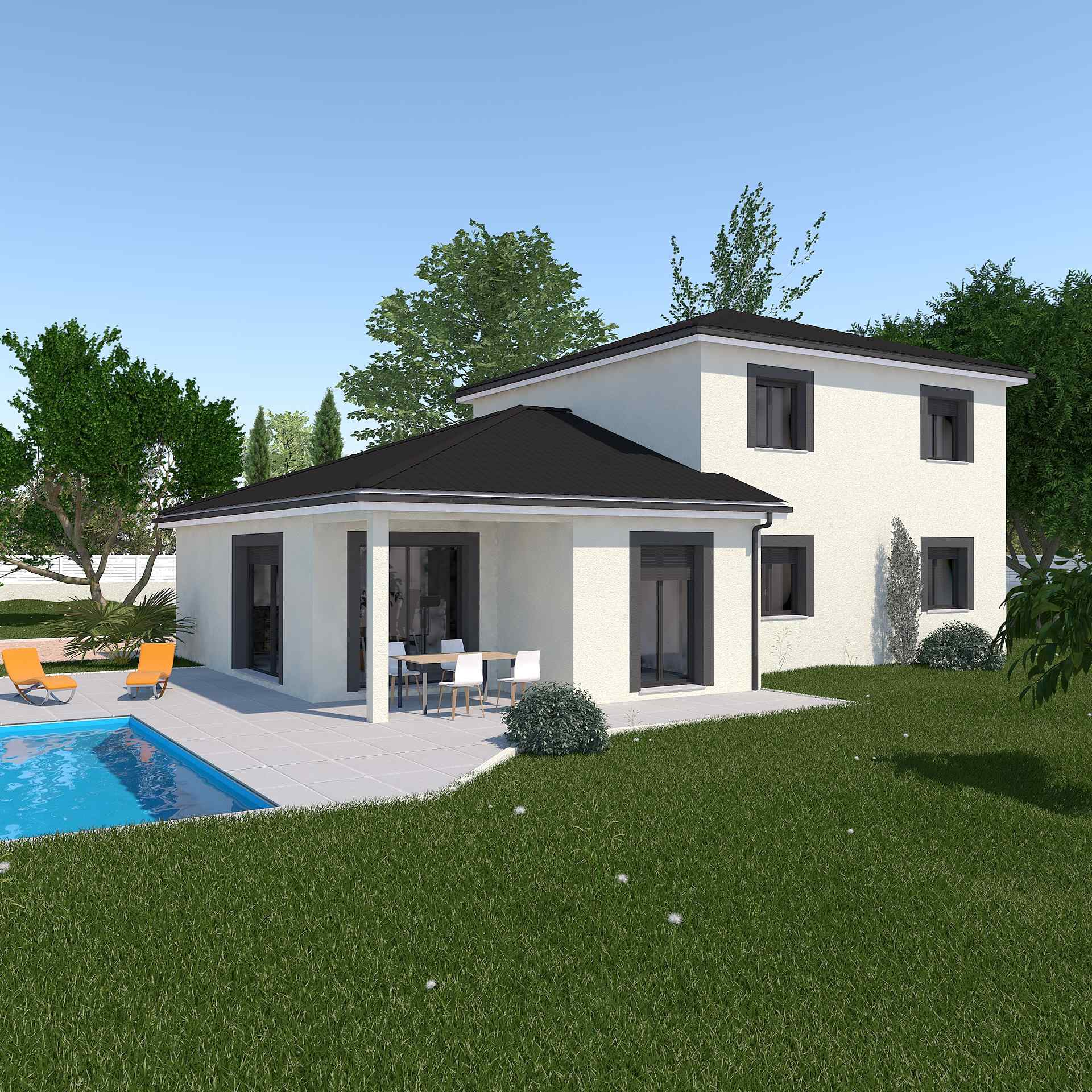 Projet maison contemporaine mc immo for Constructeur maisons contemporaines