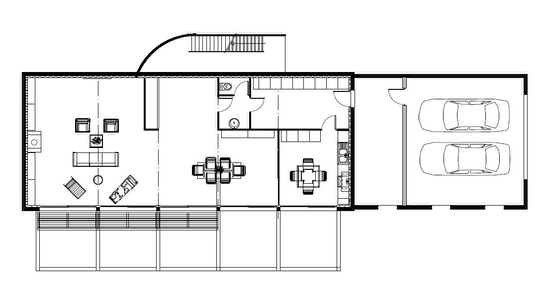 Plan de construction villa moderne mc immo for Villa contemporaine plan