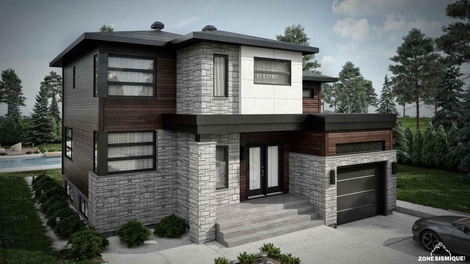 Maison moderne modele mc immo for Maison moderne mc