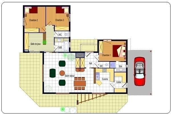Plan Interieur Maison Moderne Mc Immo - Plan interieur maison moderne