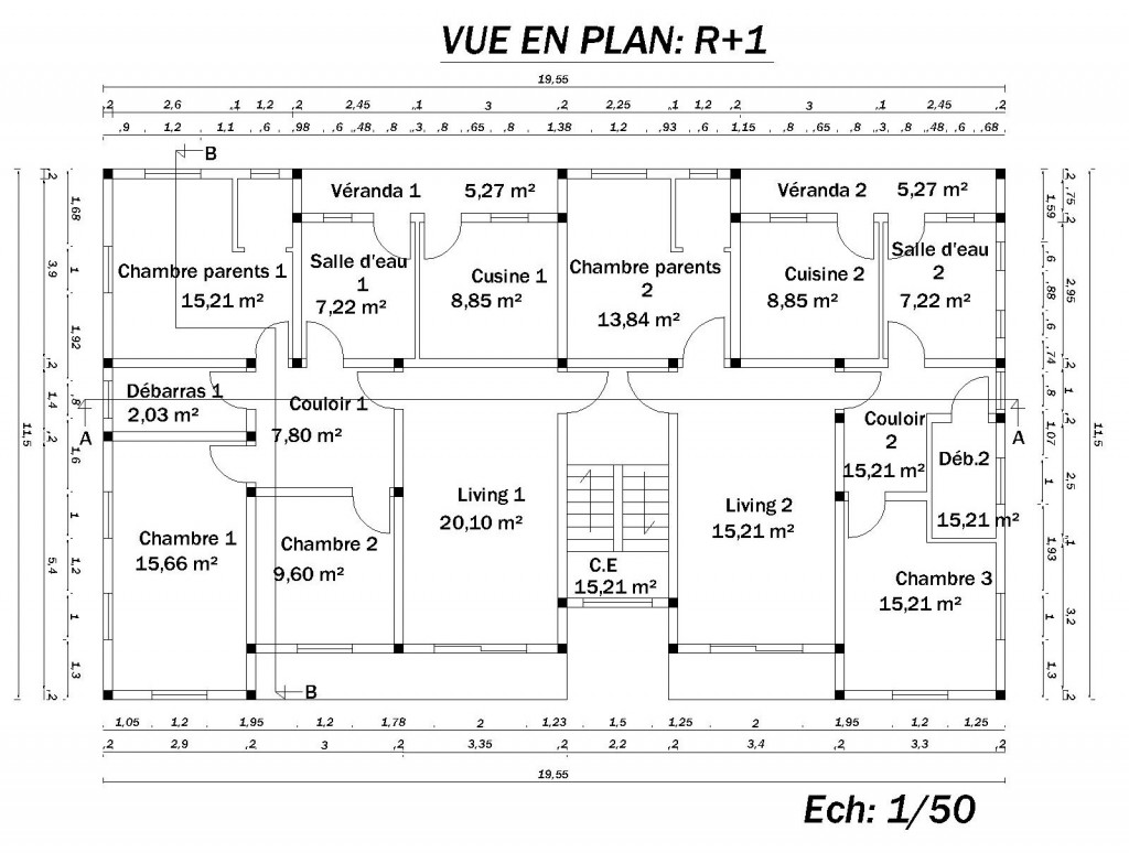 Plan de construction maison mc immo for Construction maison plan