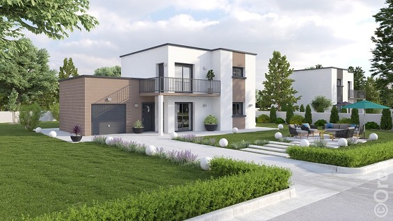 Modele de maison moderne mc immo for Modele de maison contemporaine a construire