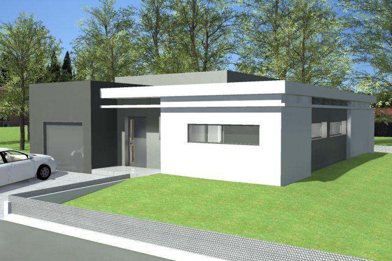 Plan maison toit terrasse plain pied avie home for Toit terrasse immobilier