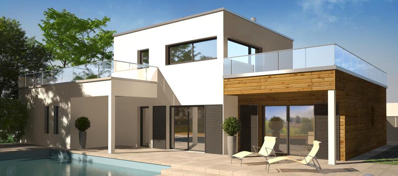 Construction d une maison moderne mc immo for Construction maison simple