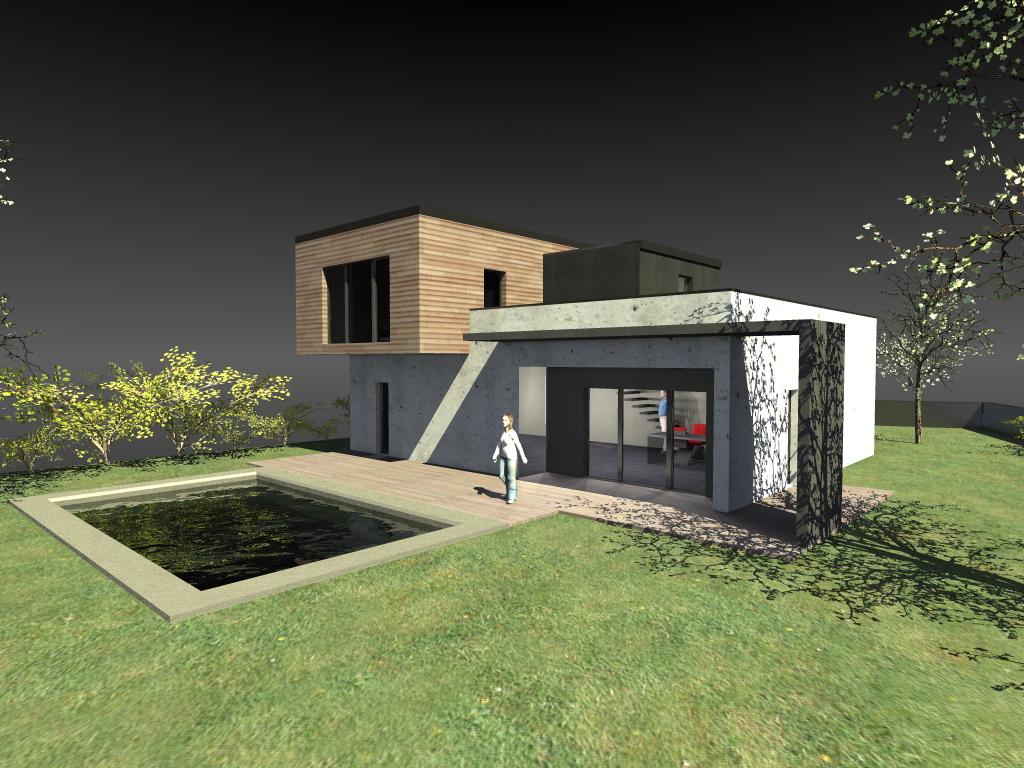 cout construction maison contemporaine mc immo. Black Bedroom Furniture Sets. Home Design Ideas