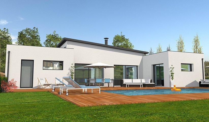 Construction maison contemporaine plain pied mc immo for Maison moderne mc