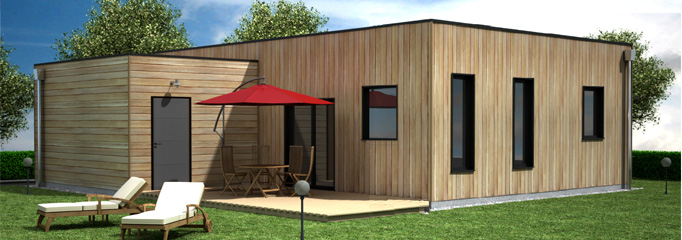 maison en bois contemporaine tarif mc immo