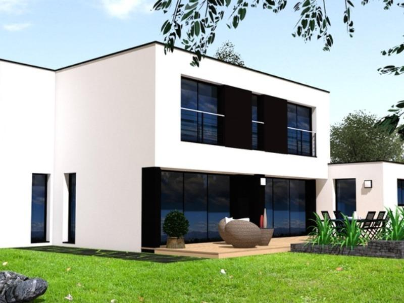 Maison moderne 140m2 mc immo for Maison moderne mc
