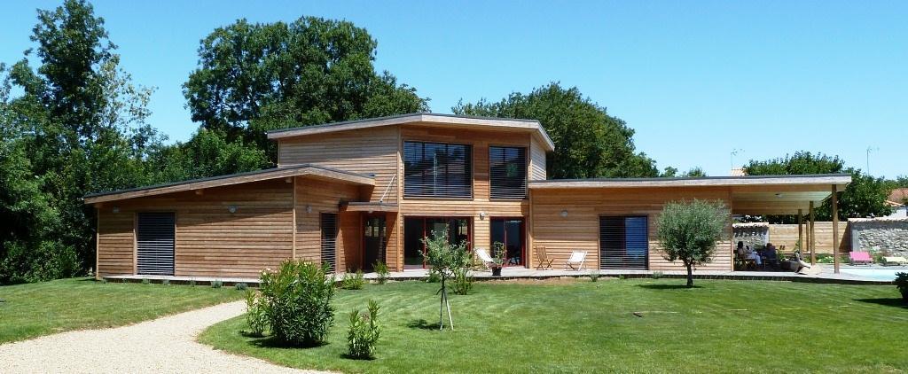 Maison ossature bois contemporaine prix - Mc immo