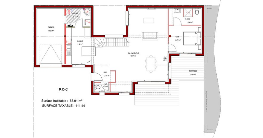 Plan maison plain pied toit plat mc immo for Plan maison contemporaine toit plat