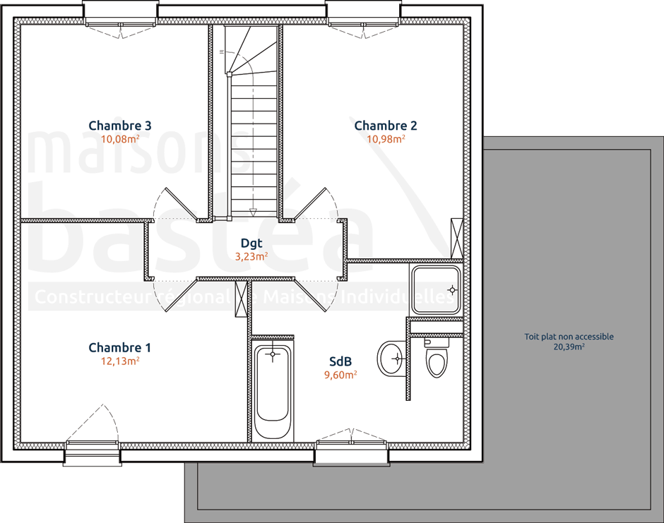 Plan maison cube etage mc immo for Plan de maison cubique
